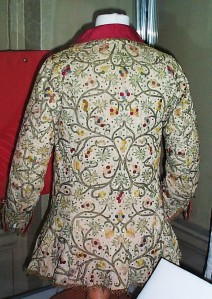 early 17th century crewel embroidered jacket