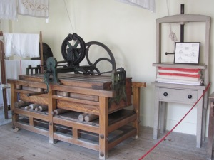 This excellent example of a box mangle is part of the laundry room collection at Kingston Lacy in Dorset