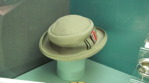 the flattering broad rimmed hat still being worn at Dunkirk