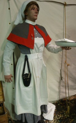 First First World War QAIMNS uniform with long leather chatelaine suspended at waist