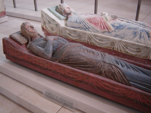 Isabella of Angouleme, John's youthful second wife,next to his brother, Richard Coeur de Lion, at Fontevraud