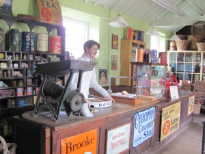 Reconstruction of a 1930s general grocers at Gressenhall Workhouse Museum in Norfolk
