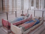 Heavily restored tombs of King Henry II and Eleanor of Aquitane at Fontevraud